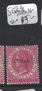 MALAYA PERAK (P0702B) QV 2C  SG 22   MNG