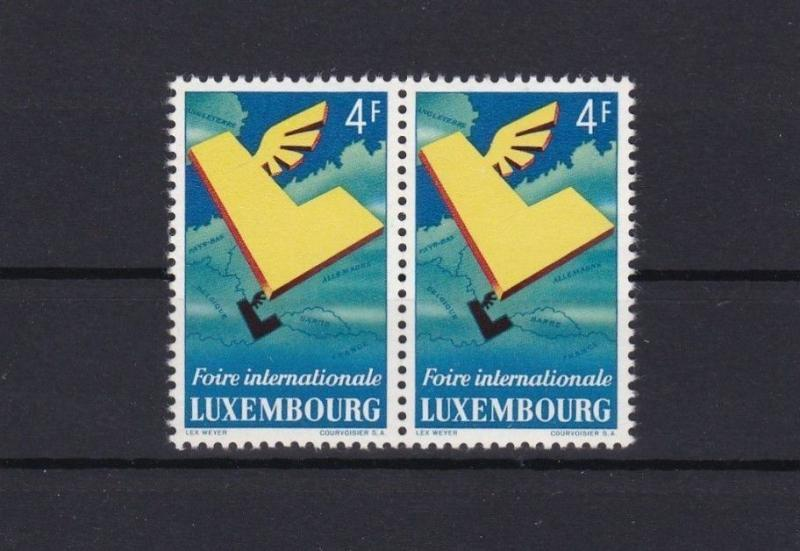 LUXEMBOURG INTERNATIONAL FAIR MNH STAMP  PAIR CAT £38  REF 4879