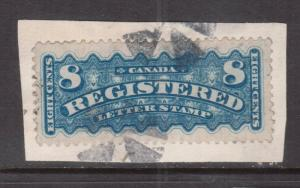 Canada #F3 Very Fine Used On Piece Tied By Fancy Cork Cancels