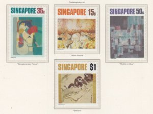 SINGAPORE, 1972 Contemporary Art set of 4, mnh.