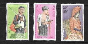 Laos  (1964)  - Scott # C43 - C45,