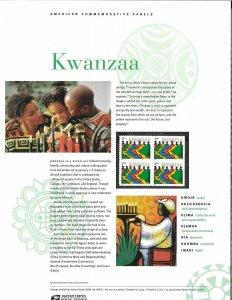 USPS COMMEMORATIVE PANEL #725 KWANZAA #3881