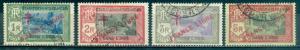 French India #172-174, 176  Used  Scott $29.00
