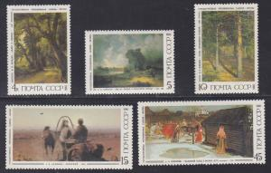 Russia # 5466-5470, Paintings, NH, 1/2 Cat.