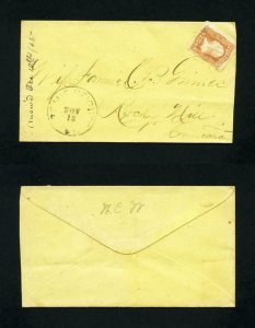 FREE SHIPPING - # 65 cover Bemis Heights, NY, Dead Post Office - 11-18-1860's