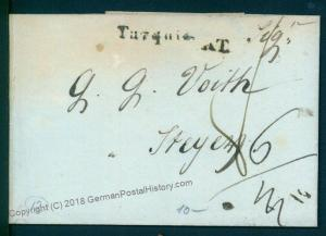 Turkey 1836 Steyr Austria Disinfected Cholera Cover Constantinople 92099