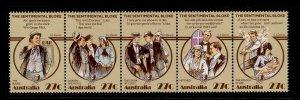 AUSTRALIA QEII SG890a, 1983 horiz strip of 5 890/894, NH MINT.