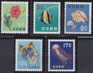 Ryukyu Islands 58-62 MNH (1959)