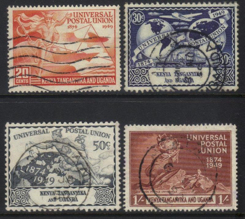 K.U.T 1947 75th ANNIV UPU USED SET OF 4