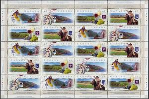Canada - 1997 Scenic Highways Sheet of 20 VF-NH #1653a