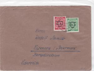 Germany Soviet Zone 1948 Eisenerz Steirmark  stamps cover  R20745