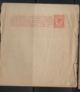 Queensland Postal Stationery Wrapper H&G 8 Unused