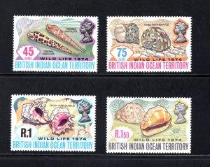 British Indian Ocean Territory, Scott 59-62  VF,  Unused, CV $11.50 .... 0870035