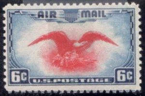 US Scott #C23 - EAGLE w/ SHIELD, ARROWS, OLIVE BRANCH Perf 11 FLAT PLATE CV~$1+