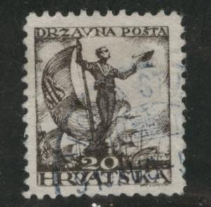 Yugsolvaia  Croatia Scott 2L36 used