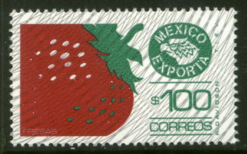 MEXICO Exporta 1134 $100P Strawberries Fosfo Paper 7 MNH