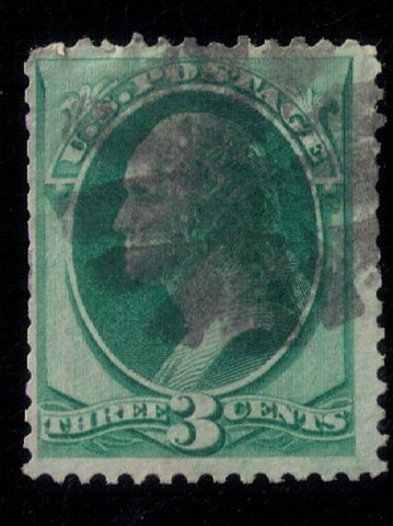 US SCOTT #147 USED W/FANCY CANCELLATION F-VF