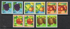 NEW ZEALAND 1982 - 83 EXPORT FRUIT - JOINED PAIRS