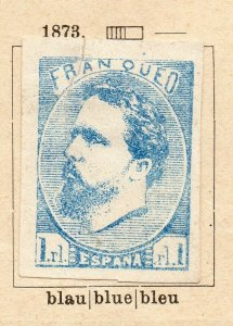 Spain 1873 Early Issue Fine Mint Hinged 1r. NW-16586