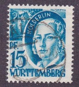 Germany - Wurttemberg # 8N19, Used,