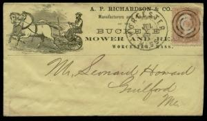#65 TARGET CNL ON A.P. RICHARDSON Co. BUCKEYE MOWER & REAPER ADVT COVER BQ2421