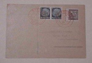 GERMAN SUDETENLAND 9 OCT 1938 MIXED GERMAN & CZECHOSLOVAKIA