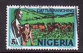 Nigeria-Sc#294- id5-used 5k Cattle-Animals-1973-4-
