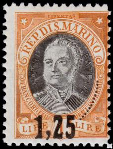 San Marino Scott 104 (1927) Mint LH F-VF, CV $9.50