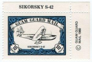 (I.B) Guam Local Post : Guam Guard Mail 10c (Sirkorsky S-42)