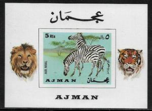 Ajman Michel #Block111 MNH S/Sheet - Zebras