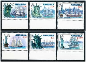 Anguilla #657-662  Set of 6 MNH