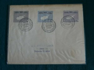 Cyprus 1960 Republic Independence set Unofficial FDC.
