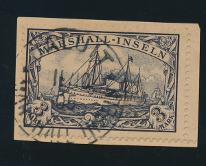 Marshall Islands Stamp Scott #24, Used, On Paper, Town/Date Cancel - Free U.S...