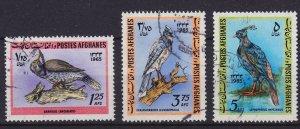 AFGHANISTAN [1965] MiNr 0939-41 ( O/used ) Vögel