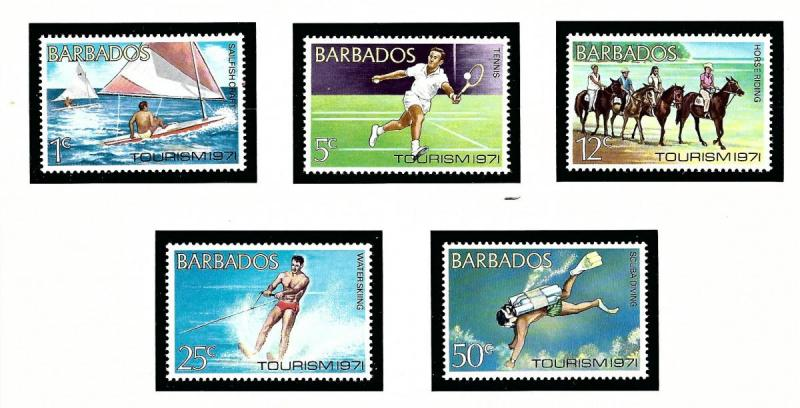Barbados 357-61 MNH 1971 Tourism