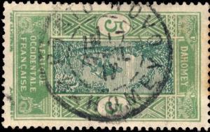 DAHOMEY - 1917 - CAD DOUBLE CERCLE PORTO-NOVO / DAHOMEY SUR N°46