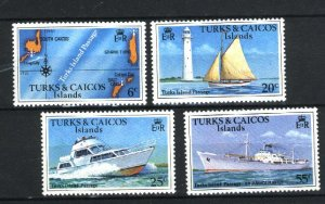 Turks and Caicos Islands # 338-341   Mint NH VF 1978 PD