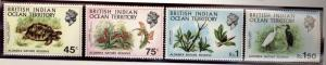 British Indian Ocean Territory Scott 39-42 SG36-39 Marine Birds mint NH