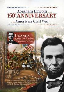 Uganda - Abraham Lincoln - Civil War 150th Anniversary - UGA1209S