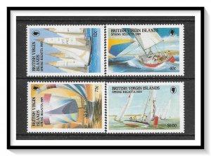British Virgin Islands #631-634 Various Yachts Set MNH