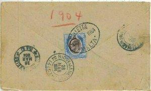 01306 -  MALTA -  POSTAL HISTORY - COVER TO BRAZIL 1904