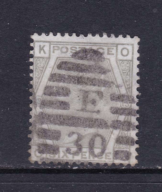 Great Britain a QV 6d grey plate 13 used