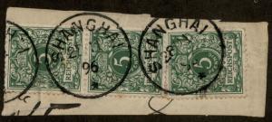 Germany 1896 China Mi V46 SHANGHAI Forerunner Vorlaufer Expertized 85217