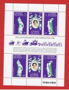 Gilbert Islands #312  MNH OG  Elizabeth ll  SS   Free S/H