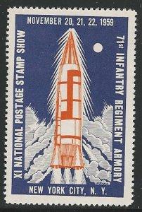 Rocket Mail, National Postage Stamp Show, N.Y.C.,1959, Poster Stamp / Cinderella