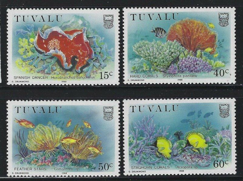 Tuvalu 1988 Marine Life set Sc# 465-68 NH