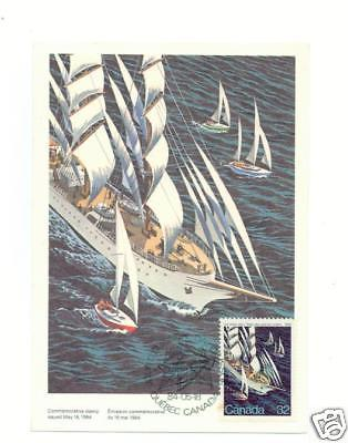 1984 Canada Sailing Sail Boat Ship Maxi Card COver