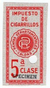 (I.B) Colombia Revenue : Cigarette Tax Class 5 (ABN Specimen)