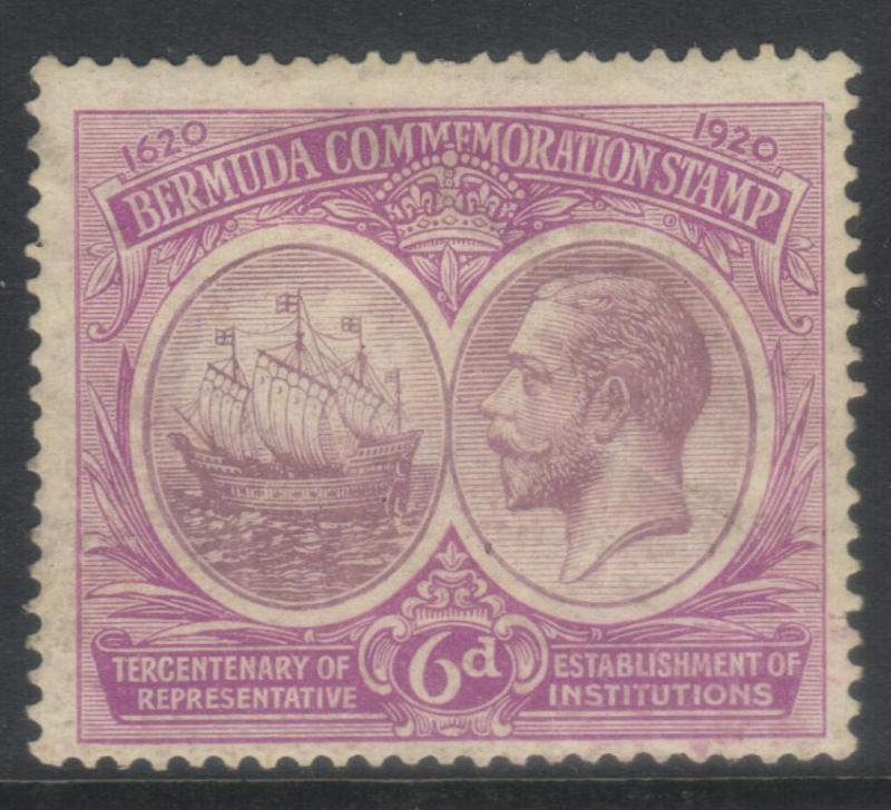 BERMUDA 1920-1921 TERCENT OF PRERESENTATIVE INST (1st ISSUE) SG67 MH CAT £30