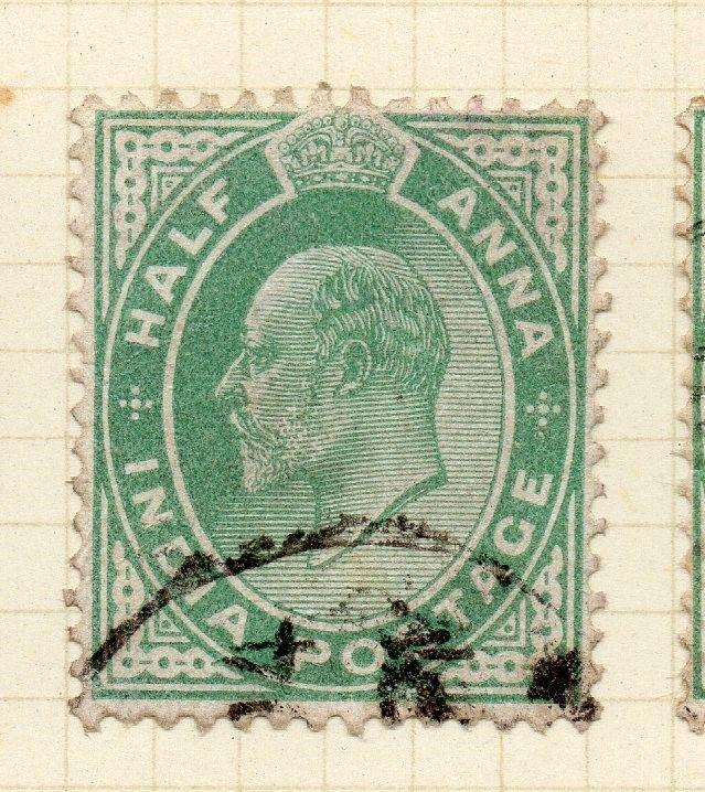 India 1902-11 Early Issue Fine Used 1/2a. 075431